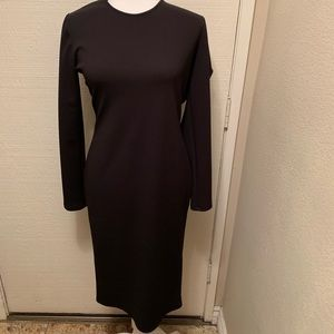 ZARA W/B Collection Black Dress with Open Back